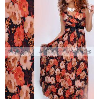 Virág mintás  női ruha megkötős