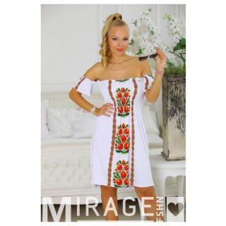 Mirage gumírozott női ruha virág mintás