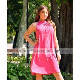 Pink színű A Vonalú lenge női ruha