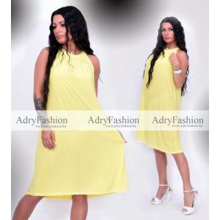 Citromsárga színű A Vonalú lenge női ruha