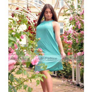 Menta színű A Vonalú lenge női ruha