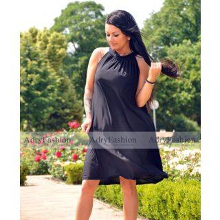 Fekete színű A Vonalú lenge női ruha