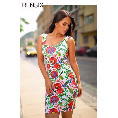 Rensix  matyó mintás poliamid ruha