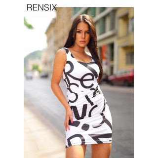 Rensix fehér fekete poliamid ruha