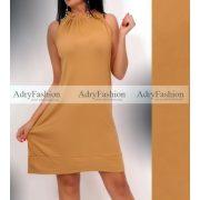 Pamut barna színű nyakán húzott női ruha