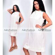 Tört fehér színű nyakán húzott női ruha
