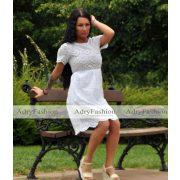 Fehér tört madeira csipkés nyári ruha