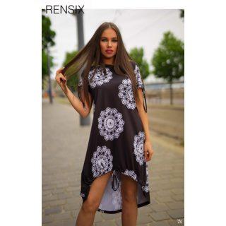 Rensix fekete fehér madzagos ruha