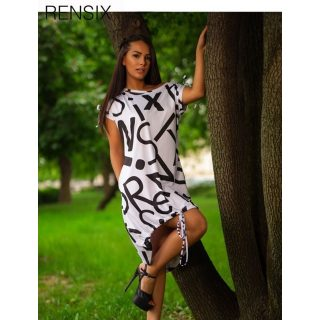 Rensix fehér alul húzott női ruha