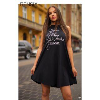 Rensix fekete A vonalú poliamid női ruha