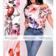 Panni virágos csini muszlin felső vállra húzható