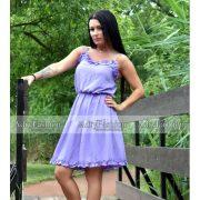 Lila színű női ruha Selymes tapintású fodros nyári ruha