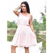 Rózsaszín színű női ruha Selymes tapintású fodros nyári ruha