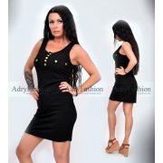Fekete trikó ruha