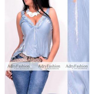 Alkalmi kék gyöngyházas trikó