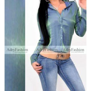 Kék zöld színű Mermaid laza elegáns alkalmi ing