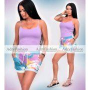 Batikolt kék-lila-sárga rövidnadrág