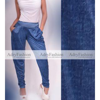 Farmer kék színű jégselyem zsebes nadrág
