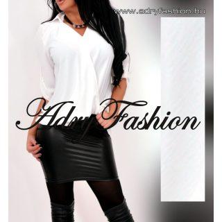Fehér színű elegáns LENGE átlapolt női ing lenge laza női felső