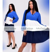 Kék bő fazonú hosszú ujjú ruha