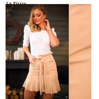 La Pierre bézs fodros női szoknya XS/S méretre ajánlott