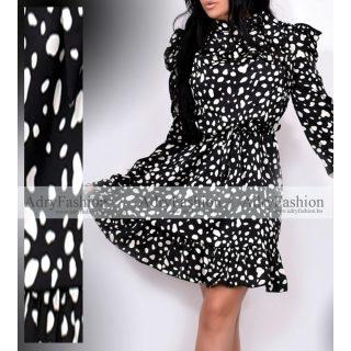 Fekete fehér  elegáns alkalmi női ruha