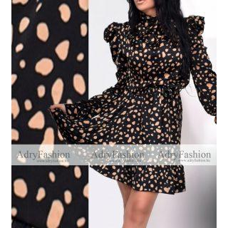 Fekete arany elegáns alkalmi női ruha