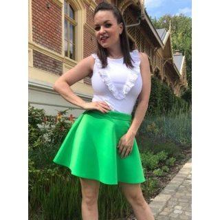 Robrow zöld neoprém loknis női szoknya M