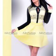Robrow sárga neoprém loknis női szoknya M