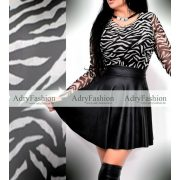 Zebra mintás dupla rétegű női felső
