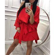 Piros lepel ruha megkötős lenge lepel ruha