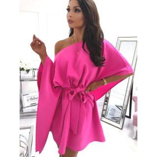 Pink lenge lepel ruha derekán megkötős