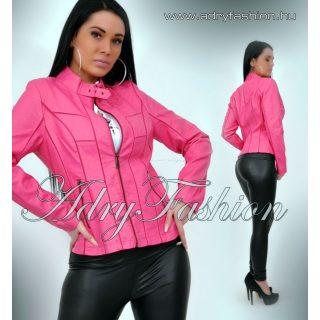 Pink motoros műbőr dzseki