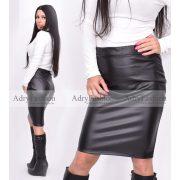 Trixy szoknya fekete bőrhatású  bélelt