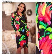 Rensix matyó mintás csavart női ruha