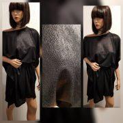 Fekete fényes alkalmi lepel ruha