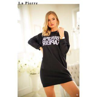 La Pierre Fekete színű  lenge tunika