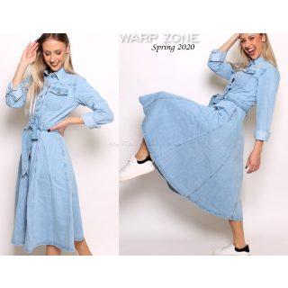 Warp Zone farmer kabát ruha hosszú