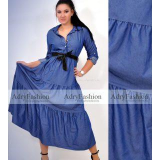 Farmer kék hosszú ing ruha