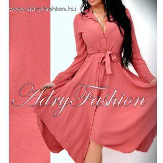 Elegáns női ing ruha derekánál megkötős