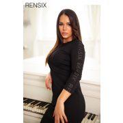 Rensix fekete fekete Rensix feliratos női ruha