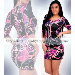 Missq  pink Variant Lilás cipzáros passzos női ruha S-es