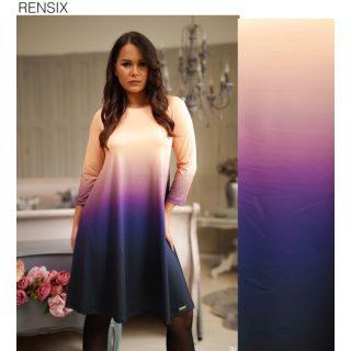 Rensix  ombre batikolt  színátmenetes Á vonalú lenge női ruha