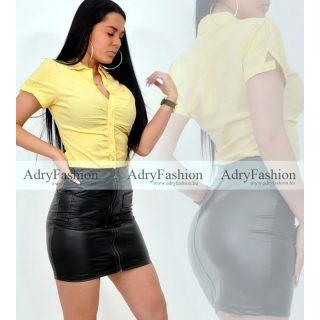 Sárga fehér csíkos   húzott női ing