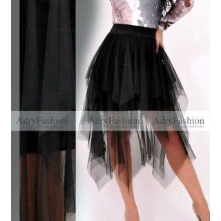 Fekete színű tüllös szoknya