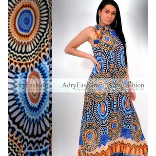 Kék mintás Maxi ruha