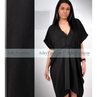 Fekete lenge laza női ruha