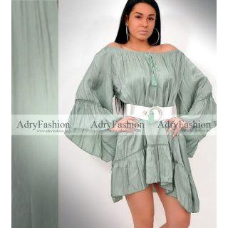 Mermaid zöld színű lenge laza ruha