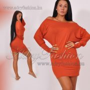 WARP Zone mellénél strasszos tégla színű női ruha