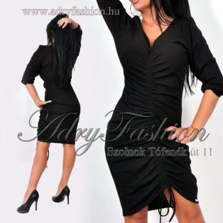 Rensix fekete elöl húzott női ruha